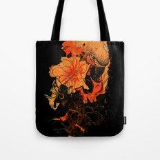 Pollination Dark Fire Tote Bag
