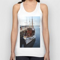 oslo Tank Tops featuring Classic Boats In Oslo by Malcolm Snook