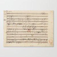 mozart Canvas Prints featuring Mozart by Le petit Archiviste