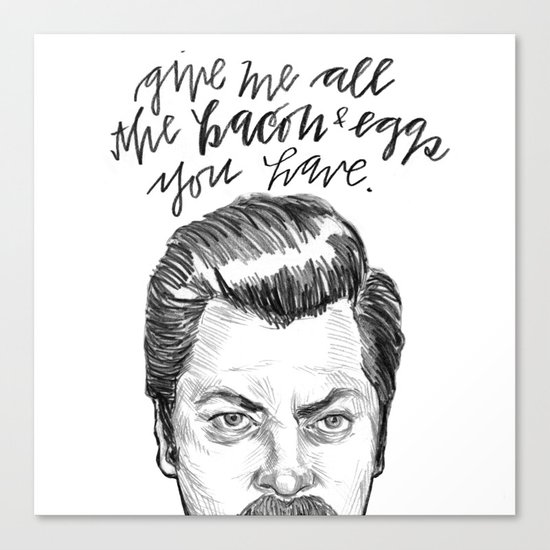 Ron Swanson. [Parks and Recreation] Canvas Print