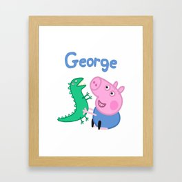 George Pig Framed Art Print