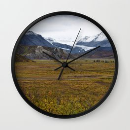Isabell Pass Glaciers Wall Clock