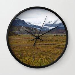 Isabell Pass Glaciers Wall Clock