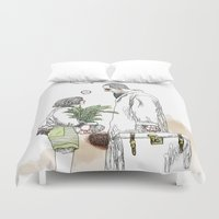 kim sy ok Duvet Covers featuring OK?! by doFirlefanz