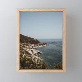 Travel photography - Coast Elba, Italy, Vertical  Framed Mini Art Print