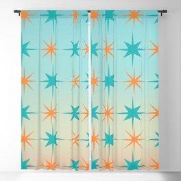 Mid-Century Modern Art Starburst 1.1 Blackout Curtain