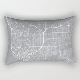 Buffalo Map, New York USA - Pewter Rectangular Pillow