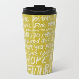 Jeremiah 29: 11 x Mustard Metal Travel Mug