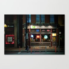 Bicycle Cafe Canvas Print