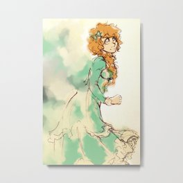 Dee with Color Metal Print