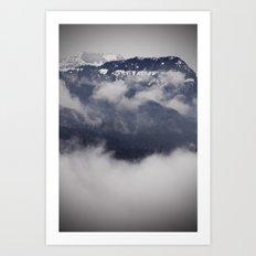 Cold Columbia Gorge Morning Staring Into Washington's Mountains Art Print