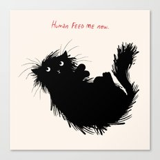Human Feed Me Now Canvas Print
