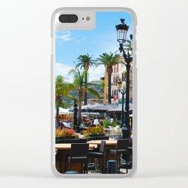 Sidewalk Cafe at Calvi France Clear iPhone Case