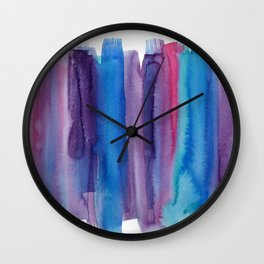 Brushed Watercolor Wall Clock