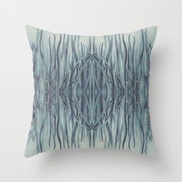 Green-Blue Grass Throw Pillow