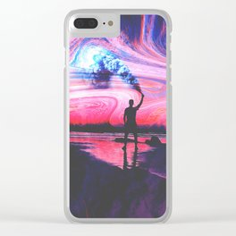Smoke in the sky Clear iPhone Case