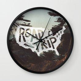 Road Trip USA - big sur Wall Clock
