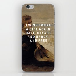 half-savage and hardy, and free iPhone Skin