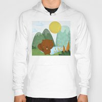 beaver Hoodies featuring little beaver by Proyecto Melón