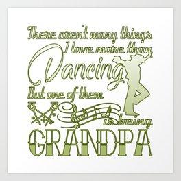 Dancing Grandpa Art Print