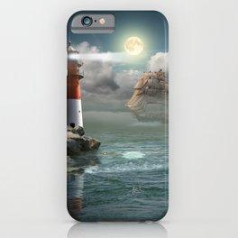 Lighthouse Under Back Light iPhone Case