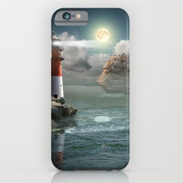 Lighthouse Under Back Light iPhone Case