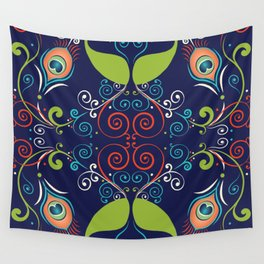 Peacock Nouveau Wall Tapestry
