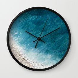 Wave Whispers (Large Encaustic) Wall Clock