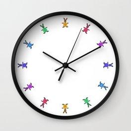easter time - clock design o2 Wall Clock
