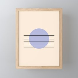 Private Moon - Blue Framed Mini Art Print