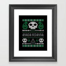 The Dark Sweater Framed Art Print