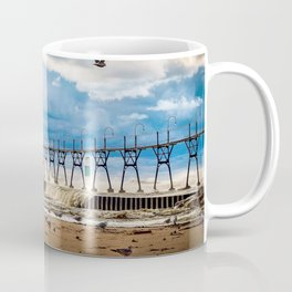"""South Haven Lighthouse"" - South Haven, MI Coffee Mug"