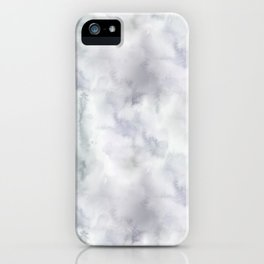 Abstract modern gray lavender watercolor pattern iPhone Case