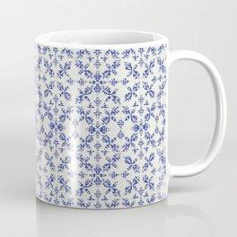Boho Stiches in Indigo Coffee Mug