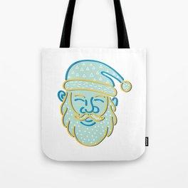 Santa Claus Head Memphis Style Tote Bag