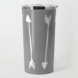 Grey Arrows Travel Mug