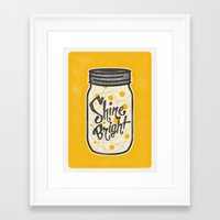 fireflies Framed Art Prints featuring Fireflies by Landon Sheely