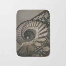 Old brown staircase Bath Mat