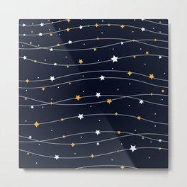Sparkling stars Metal Print