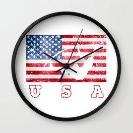 USA Pole Vault - Flag of America Wall Clock