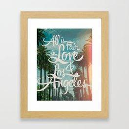 ALL IS FAIR III Framed Art Print