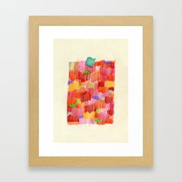delicious colour Framed Art Print