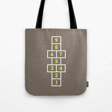 Hopscotch Brown Tote Bag
