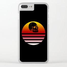 Retro Skull 3 Clear iPhone Case