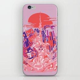 Smash! Zap!! Zooom!! - Big-Boobed Babe iPhone Skin
