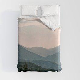 Smoky Mountain Pastel Sunset Duvet Cover