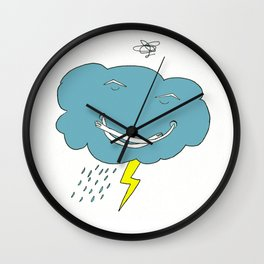 Ivan the angry cloud Wall Clock