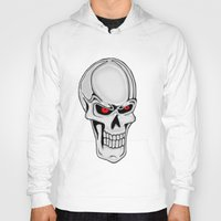 metallic Hoodies featuring Metallic Skull by J&C Creations