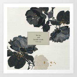 We live and breathe words. Will Herondale. Clockwork Prince. Art Print