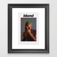 FRANKLY BLOND Framed Art Print
